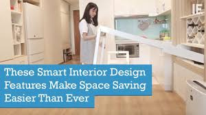 these smart interior design features make space saving easier than