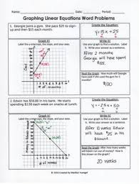 graphing linear equations word problems by madilyn yuengel tpt