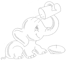 2015 baby elephant drinking coloring pages 2 gianfreda net