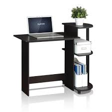 Compact Computer Desk Furinno Compact Black Grey Computer Desk 11181bk Gy The Home Depot