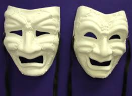 unpainted masks comedy tragedy mask set