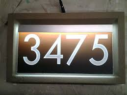 light up address sign illuminated address sign new lighted house numbers for illuminated