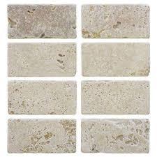 Backsplash Travertine Tile Natural Stone Tile The Home Depot - Travertine tile backsplash