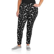 faded glory women u0027s plus size halloween bats essential leggings