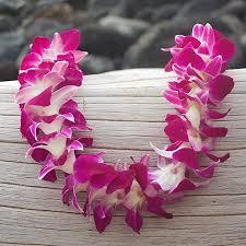hawaiian leis single purple orchid pacific leis