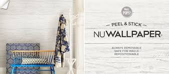 nuwallpaper peel and stick removable wallpaper by wallpops