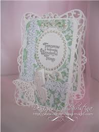 Card Making Magic - flowers ribbons and pearls fancy cards