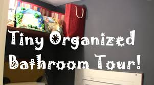 how to organize a tiny bathroom find lots of storage space youtube