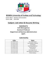 Resume Writing Business Job Letter U0026 Resume Writing