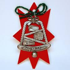 vtg gish pewter cable cars ornament san francisco