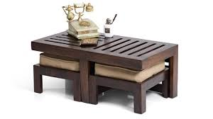 Coffee Table Set Buy Kafano Coffee Table Set Walnut Finish Online In India At