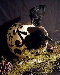 raven pumpkin pattern more great pumpkins to create martha stewart