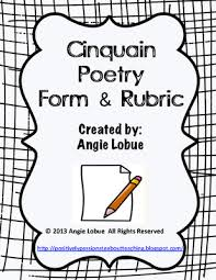 cinquain poetry template and rubric creative writing form