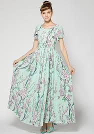 maxi dresses with sleeves green floral sleeve wrap dacron maxi dress maxi dresses
