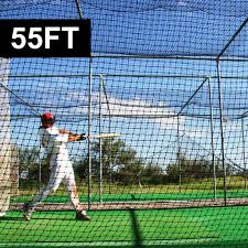Batting Cage For Backyard by Fortress 55ft Baseball Batting Cage Net World Sports