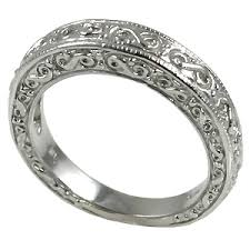 fancy wedding rings 14k gold antique fancy wedding band ring js enterprises cubic