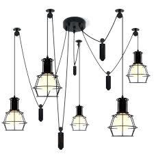 pendant cord light spider pendant light led spider light black