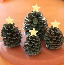 Pine Cone Home Decor Kids U0027 Craft Pine Cone Christmas Tree Village Decoration