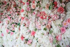flower wall romance white u0026 pink wedstyle weddings events