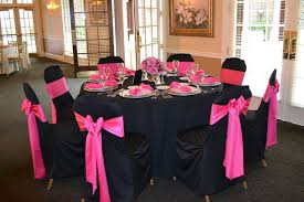 black chair covers black and pink chair cover