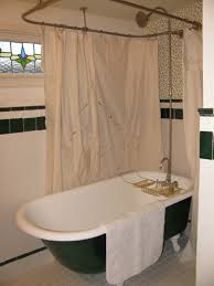 Clawfoot Tub Bathroom Design Ideas Design Clawfoot Tub Shower Curtain Rod Ideas Ebizby Design