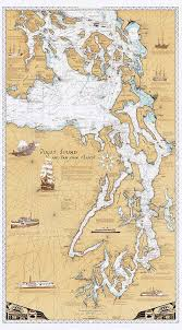 Map Of Lincoln City Oregon by Amazon Com Sobay Map P001 Puget Sound U0026 San Juan Islands Chart