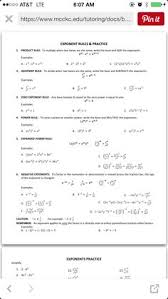 preview laws of exponents worksheets classroom pinterest