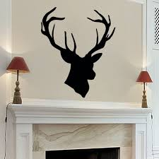 deer antler home decor high quality vinyl wall sticker home decoration deer antlers nursery