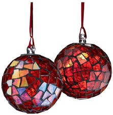 mosaic tree ornament design from