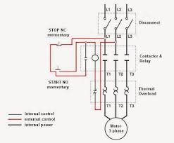 3 phase contactor wiring diagram start stop circuit and