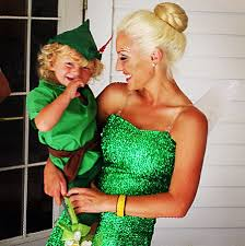 Baby Alive Halloween Costumes Disney Tinkerbell Peter Pan Mother Son Matching Halloween
