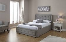 Grey Fabric Ottoman Bed Grey Storage Bed Frames Ebay