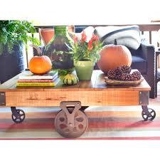weston home factory rectangle wood coffee table hayneedle