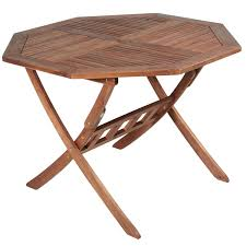 Folding Wooden Garden Table Hton Acacia Octagonal 110cm Table Next Day Delivery Hton