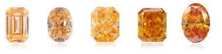 natural fancy orange diamonds