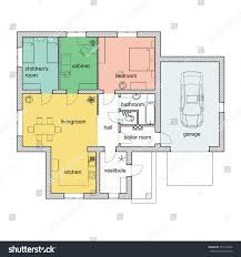 Color Floor Plan Floor Plan Modern Apartment 2d Vector Stock Vector 352194596