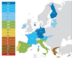 Europes Map by This Map Shows Europe U0027s Colossal Debt Division Business Insider