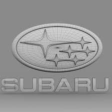 black subaru logo subaru logo 3d cgtrader