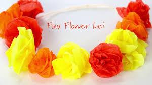 flower leis diy pretty easy faux flower