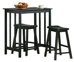 bar stools tables pub bar stools tables stool amazon com 3 piece black finish table
