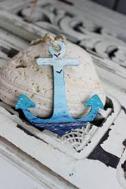 handmade glass anchor ornaments from rabbit designs