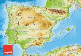 maps of spain physical map of spain