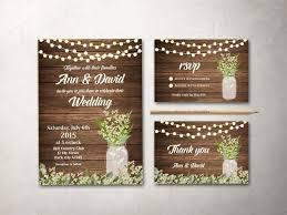 rustic wedding invitation printable fall wedding invitation