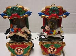 Mr Christmas Ornament - disney mr christmas carousel mickey mouse donald duck combo duo