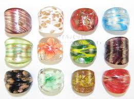 glass wedding rings wedding bands