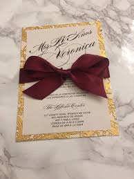 Beautiful Invitation Card Red Laser Cut Wedding Invitations With Ribbon Bow Laser Cut