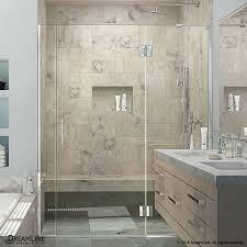 shop dreamline unidoor x 65 in to 65 5 in frameless shower door at