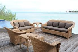 canape resine exterieur canapé classique de jardin en résine tressée 3 places java
