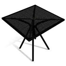 Square Patio Table Metal Mesh Patio Tables Metal Mesh Outdoor Furniture
