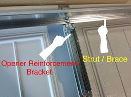 where to buy garage door struts clopay garage door opener reinforcement bracket for a 18